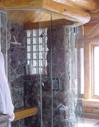 custom shower installation